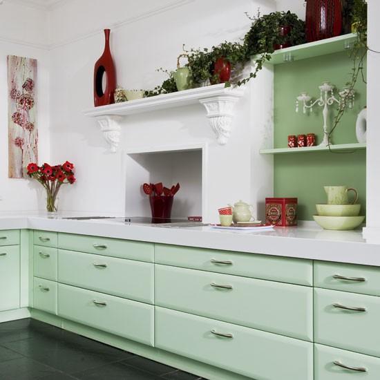 Green Kitchen Cabinets: Mint Green Kitchen