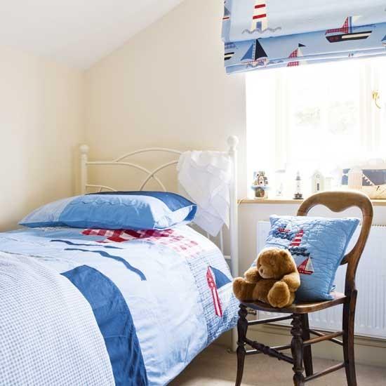 Childrens Bedroom Blinds Grey Bedroom Lighting Build In Bedroom Cupboards Victorian Bedroom Ideas: Seaside Theme Kids' Bedroom