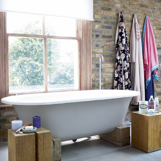 Rustic bathroom | Decorating ideas | Victorian town house ...