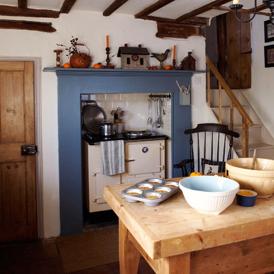 Blue Kitchen Decor: Country-style Decorating