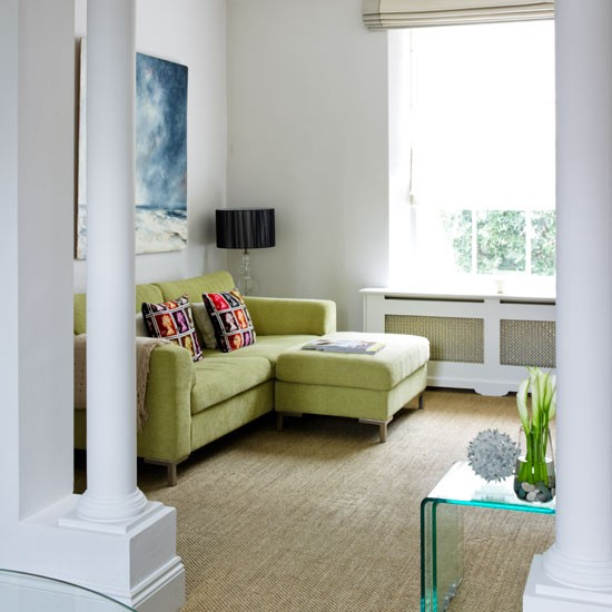 Green Decorating Ideas: Green Living Room