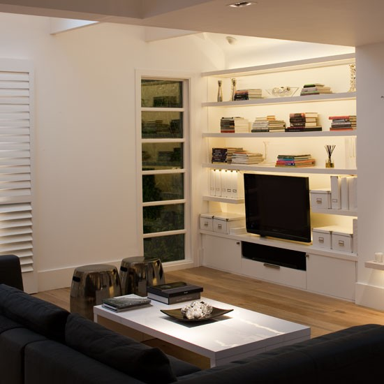Living Room With Built-in Storage