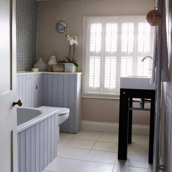 Beige Bathrooms: Grey And Beige Bathroom