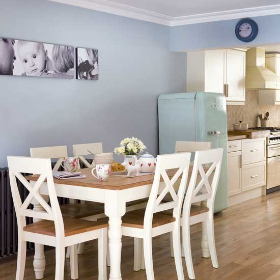 Kitchen Dining Room Colors Small Kitchen Designs Small: Pale Blue Kitchen-diner