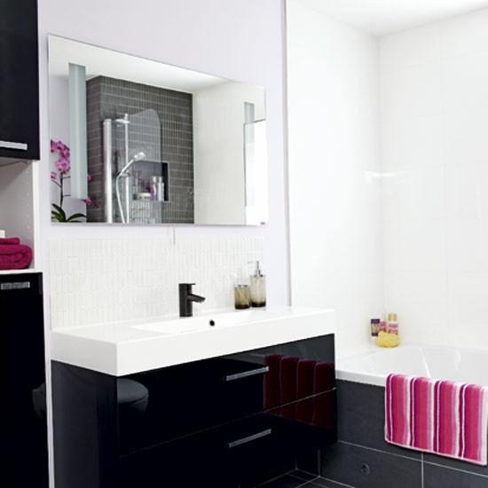 Black And White Bathroom Decorating Ideas: Black And White Bathroom