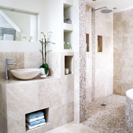 Neutral Tiled Bathroom