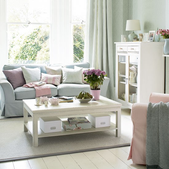 Pastel living room - Grey and duck egg blue living room ideas ...