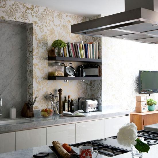 Kitchen Cabinet Wallpaper: Wallpaper For A Kitchen 2017