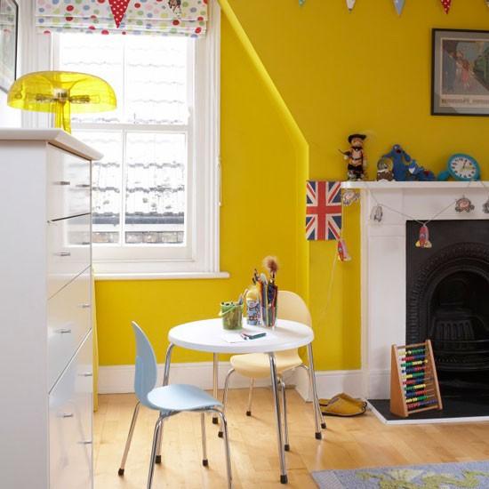 Sunshine Yellow Boys' Bedroom