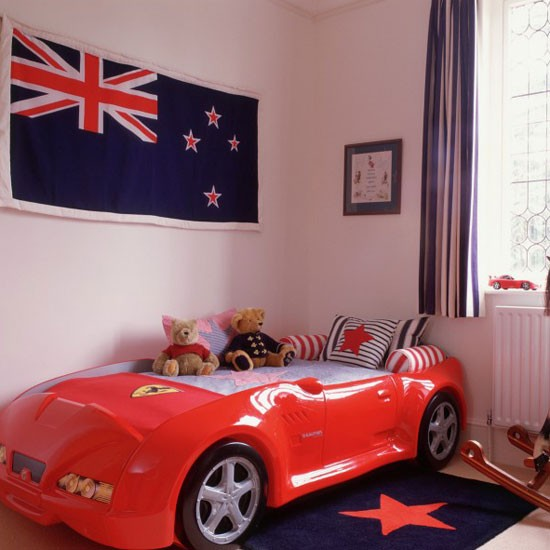 Boys' Bedroom With Racing Car Bed
