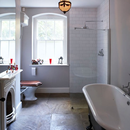 Choose Rough Luxe Slate Get Designer Bathroom Style For