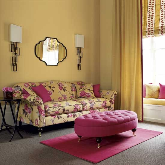 Non Traditional Wall Décor Ideas To Make A Bold Statement: Yellow Living Room