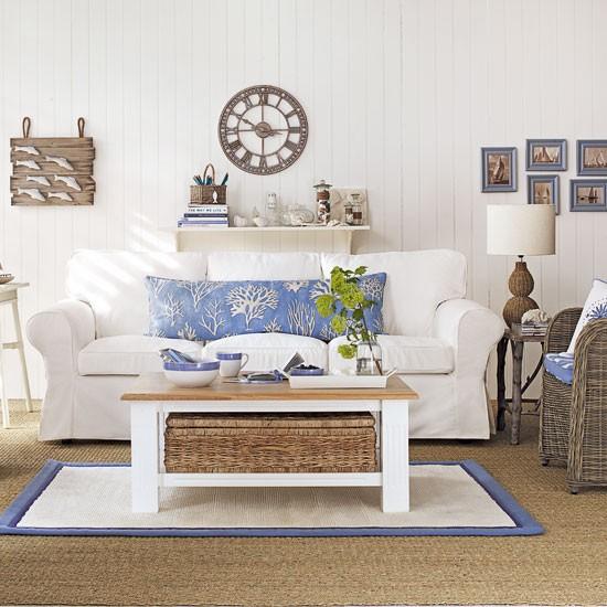 Coastal interiors for living rooms | housetohome.co.uk
