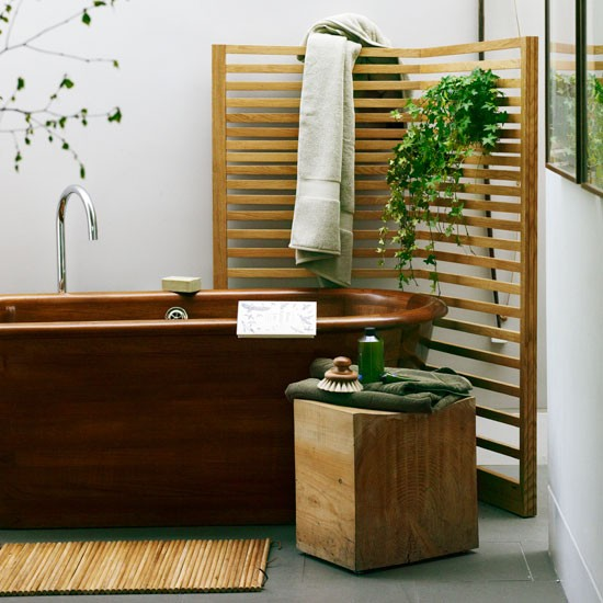 Doorless lavatory RemodelKeyser Construction - Spa Style Bathroom Ideas