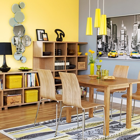 Dining Room Storage Ideas: Colourful Dining Room Storage
