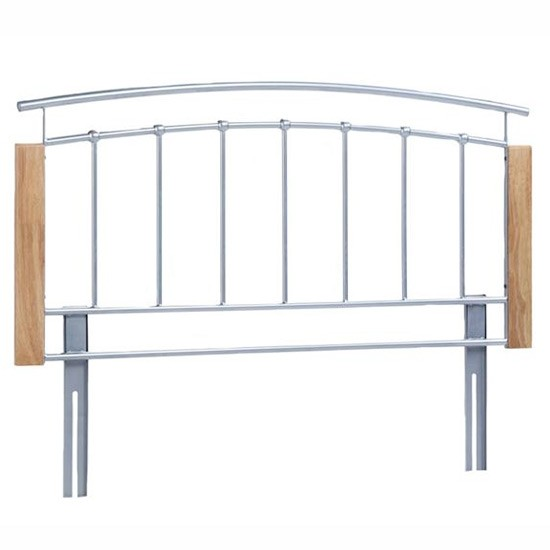 Metal And Wood Headboard From Cargo