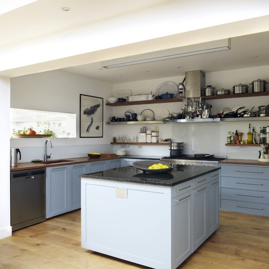 Navy Blue Kitchens That Look Cool And: Cool Blue Kitchen