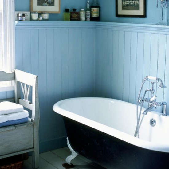 Wall Panels Bathroom: Blue And White Bathroom