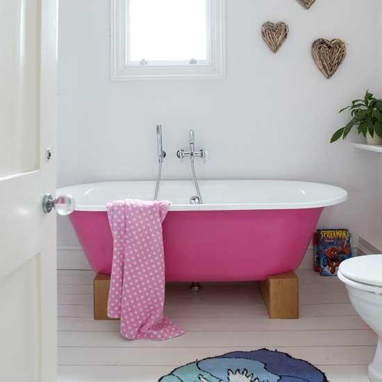 Bathroom with pink bath | Bathroom ideas | Modern decor ...