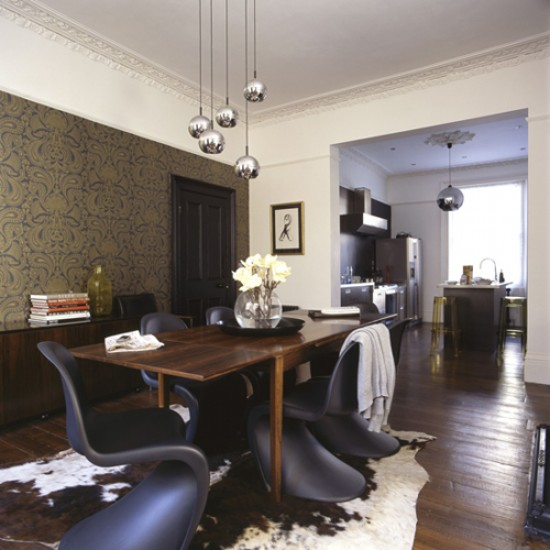 Dramatic Dining Room Design: Dramatic Dark Dining Room
