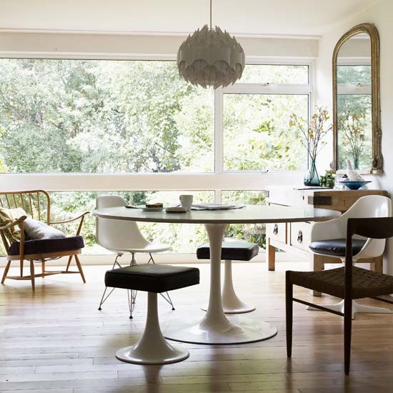 Retro Dining Room Chairs: White Retro Dining Room