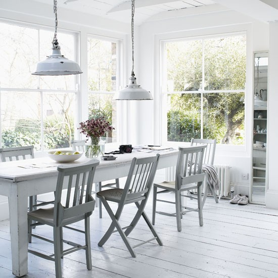 Rustic Dining Room Ideas: White Rustic Dining Room