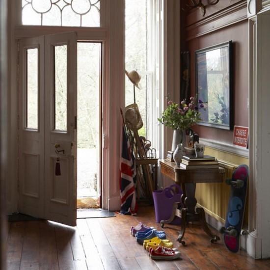 Hallway Entrance Ideas: Traditional Hallway With Wooden Floor