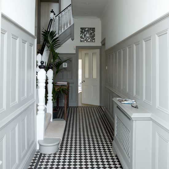 Small Hallway Paint Ideas: White Hallway With Panelling