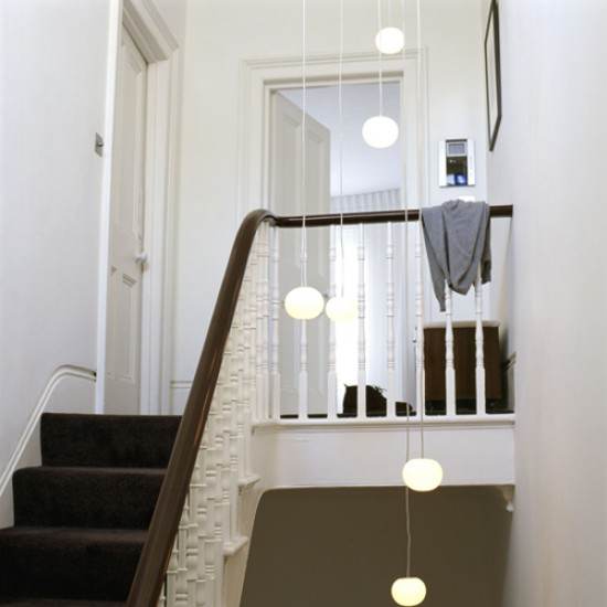 Lighting For Hallway: White Hallway With Lights