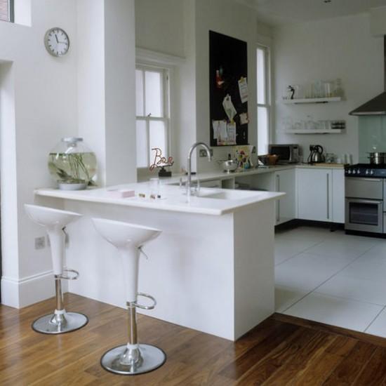 White Kitchen Flooring Ideas: White Modern Kitchen