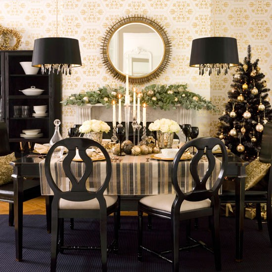 Dining Room Christmas Decorations: Christmas Table Decorating Ideas
