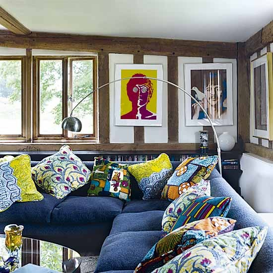 103 Best Images About Africa Inspired Home Interior: Colourful Living Room Cushions