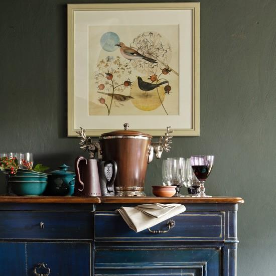 Dining Room Sideboard Decorating Ideas: Living Room Sideboard Display