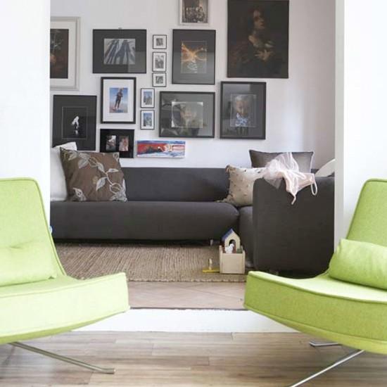 modern openplan living room  living room ideas  bold