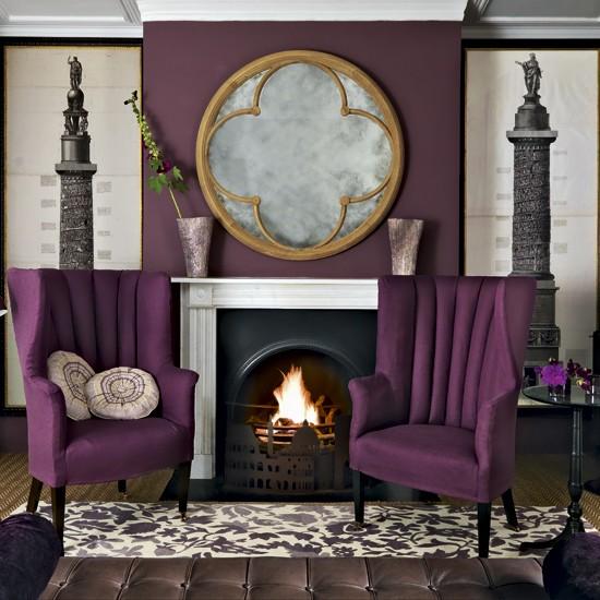 Purple living room | Living room designs | Paint colours ...