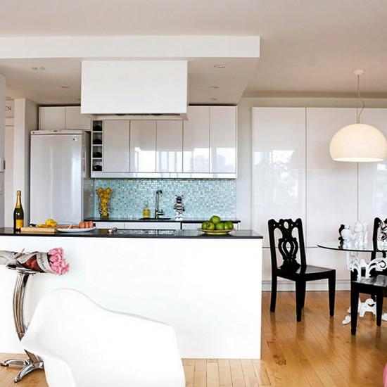 Modern Kitchen Ideas With White Cabinets: Sleek White Kitchen