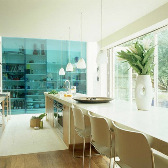 Open plan kitchen diner with glass doors dining room - Designs for kitchen diners open plan ...