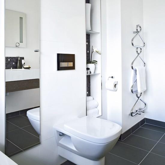 Modern Bathroom With Hidden Storage Storage White