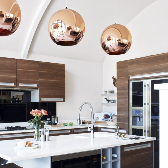 Lighting For The Kitchen: COPPER PENDANT LIGHTS IN THE KITCHEN