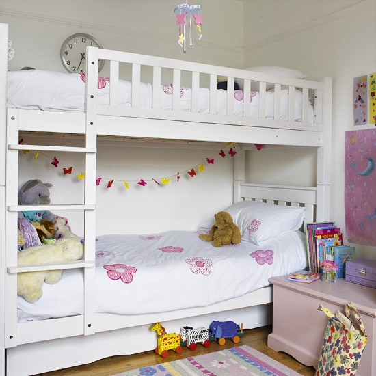 Girl S Bedroom With Bunk Bed Children S Bedrooms Bunk