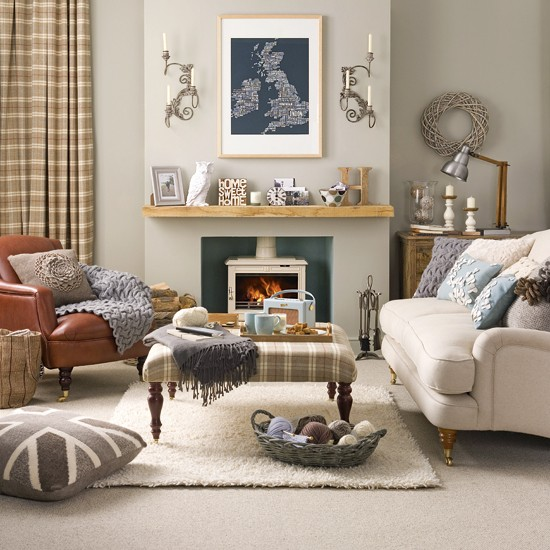 Country Living Room Ideas: Relaxed Country Living Room