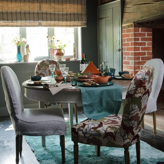 Teal Dining Room: Housetohome.co.uk
