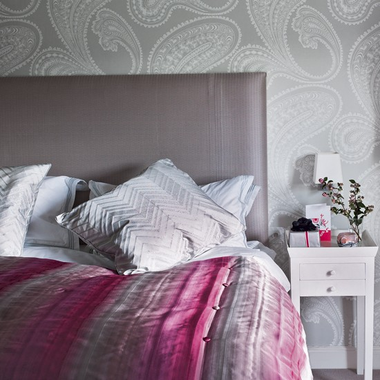 Grey And Pink Bedroom Ideas: Pink And Grey Bedroom