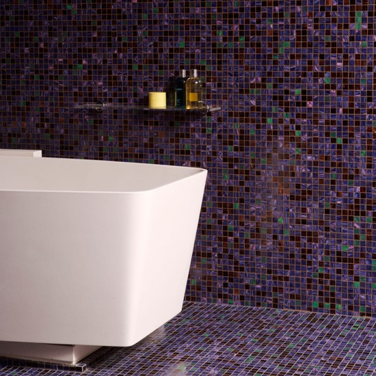 floor to ceiling purple mosaic bathroom tiles bathroom tile ideas. Black Bedroom Furniture Sets. Home Design Ideas
