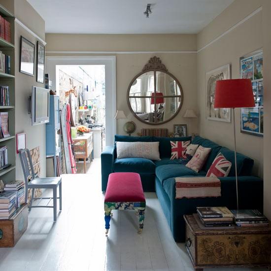 Patriotic living room | Open-plan living room ...