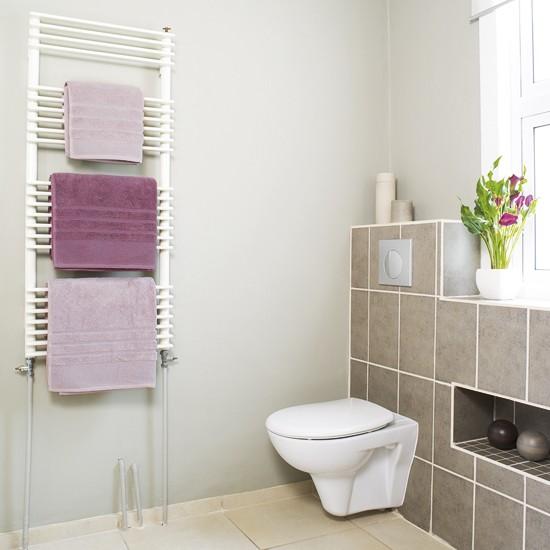 Soft pink bathroom | Neutral bathroom | housetohome.co.uk