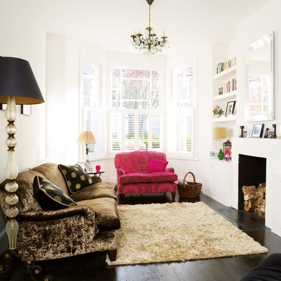 living room boho chic victorian terrace house tour ideal home. Black Bedroom Furniture Sets. Home Design Ideas