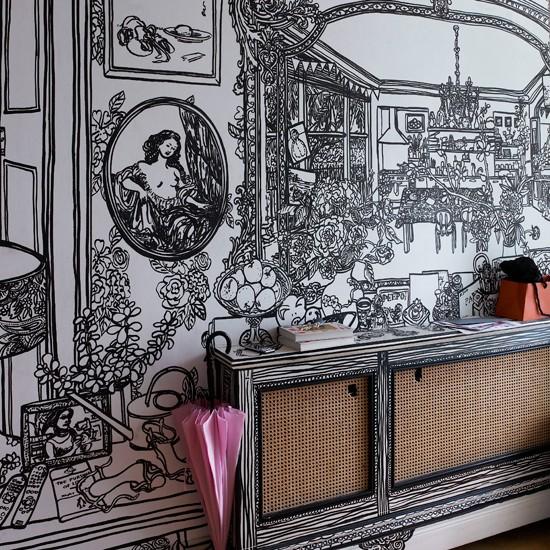 Welcoming hallway layout ideas Room Envy - Hallway Wallpaper Ideas