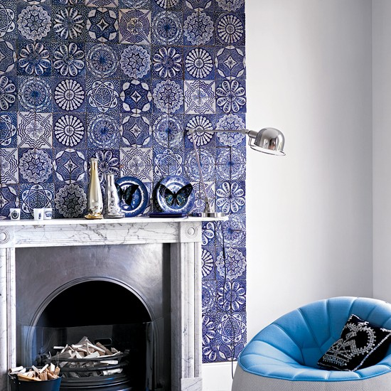 Tile A Chimney Breast Easy Living Room Updates In A