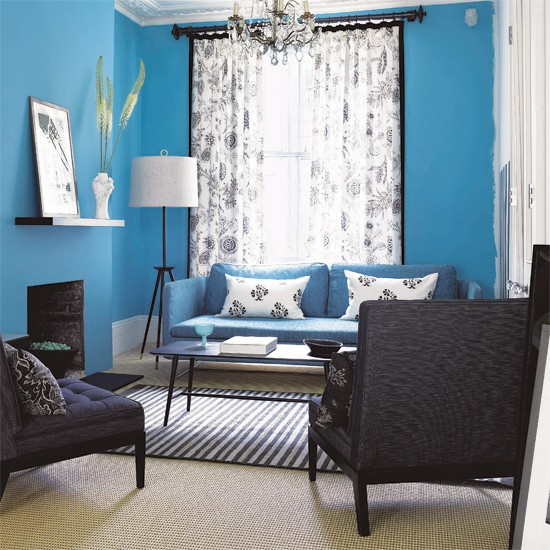 Blue Living Room: 5 Ways With Blues And Greys